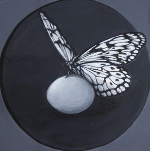 Egg with Butterfly